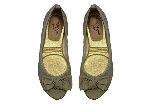 Cocorose London Scarpe Pieghevoli - Westminster Scarpe da Ballet Donna Pistachio