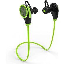 Auriculares Bluetooth 4.1, ZOETOUCH Auriculares Inalámbricos Estéreo con Micrófono Deportivos Resistente al Sudor para Correr hasta 6 Horas para iPhone, iPad, Samsung, Nexus, HTC etc - Verde