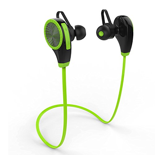 Auricolare bluetooth wireless, zoetouch cuffie bluetooth 4.1 in ear con microfono mani libere sportivo antisudore per un massimo di 6 ore per iphone, ipad, samsung, nexus, htc ecc. - verde