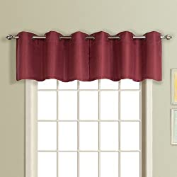 American Curtain and Home Foxborough Window Treatment Valance, 54-Inch by 18-Inch, Spice