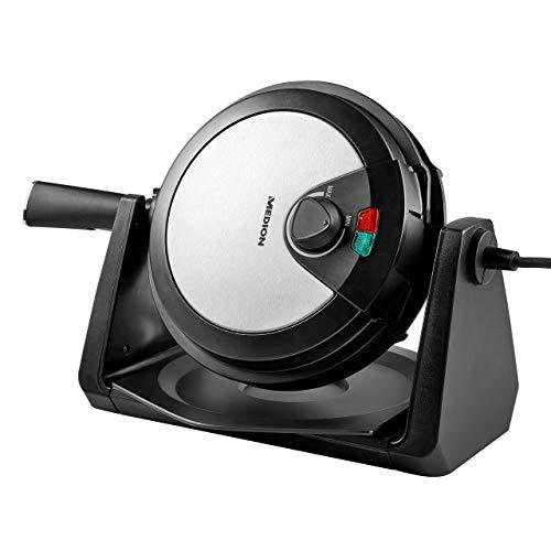 MEDION Rotierendes Waffeleisen/Waffelautomat für belgische Waffel / 1000 Watt/Antihaftbeschichtung / Temperaturanzeige/ideale Teigverteilung/MD 18360