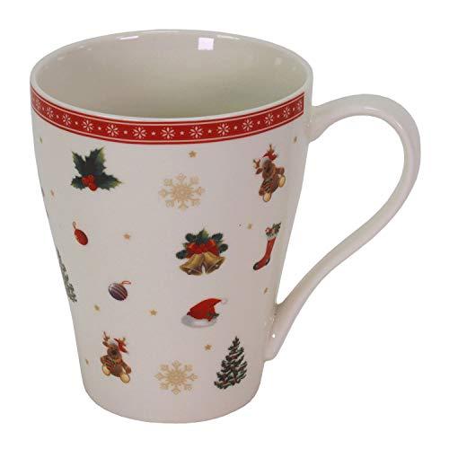 6 Becher Kaffeebecher Teetasse 'Weihnachtszeit' Weihnachten Geschirr Porzellan Tischdeko Gedeckter Tisch Mug