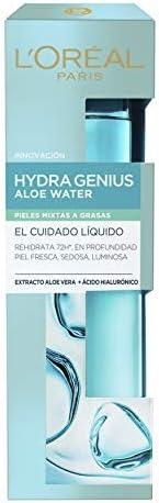 L'Oréal Paris Hydra Genius Cuidado Líquido Facial Hidratante, Para Uso Diario en Pieles Mixtas a Grasas, 7
