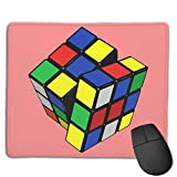Mouse Pad Magic Cube Logo Rectangle Rubber Mousepad 8.66 X 7.09 Inch Gaming Mouse Pad with Black Lock Edge