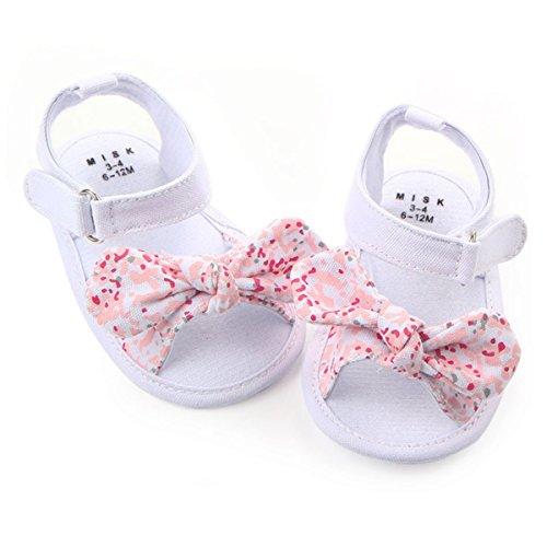 Etrack-Online  Butterfly-knot Sandals, Baby Mädchen Lauflernschuhe Weiß