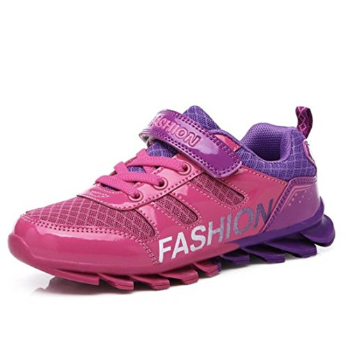 Boy's Mesh Breathable Athletic Running Shoes Rose