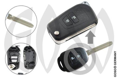 GOSO Toyota Schlüssel Leer Gehäuse Klappschlüssel Toy43 2Tasten Umbauset 8332 - Leer Gehäuse