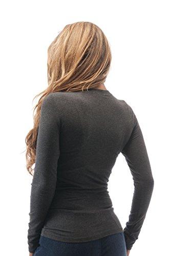 Hollywood Star Fashion Damen Bluse Anthrazit