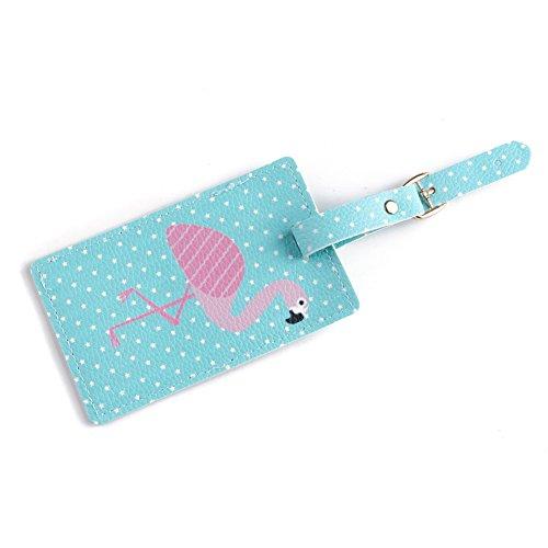 PerGrate perg Transferencia Flamingo tarjeta Passport Covers accesorios de viaje piel sintética ID Banco Card Bag Passport, Flamingos