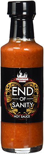 FIRELAND FOODS End Of Sanity (Carolina Reaper) Hot-Sauce, mit der schärfsten Chili der Welt, 200.000 Scoville, 100ml