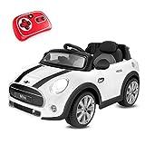 Playkin Elektroauto Mini Hatch, Weiß (Mini Blanco)