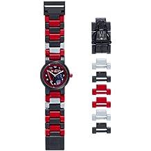LEGO Star Wars 8020417 Orologio da polso componibile per bambini con cinturino a maglie e minifigure Darth Vader