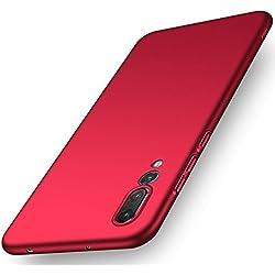 Adamark Huawei P20 Case, Huawei P20 Pro Cover Slim Fit Hard PC Bumper Shockproof Shell Anti-Scratch Thin Protective Case For Huawei P20/P20 Pro (Huawei P20, Red)