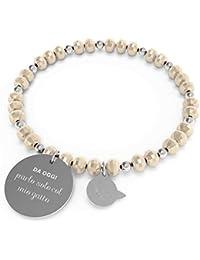 43fcbfa424d4 10 Buoni propositi Pulsera para Mujer Hablo Solo con MI Gato colección  Crystal Silver
