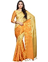 Mimosa Women's Silk Saree Peach