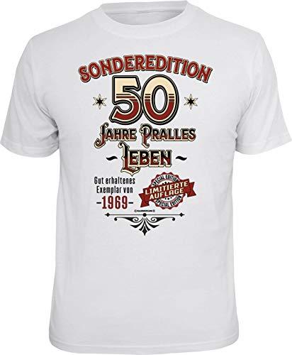 RAHMENLOS Original Geschenk T-Shirt zum 50. Geburtstag: Sonderedition pralles Leben M