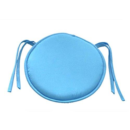 Cuscino rotondo colorato per sedia da giardino, per interni, casa, ufficio, cucina, sky blue, taglia libera