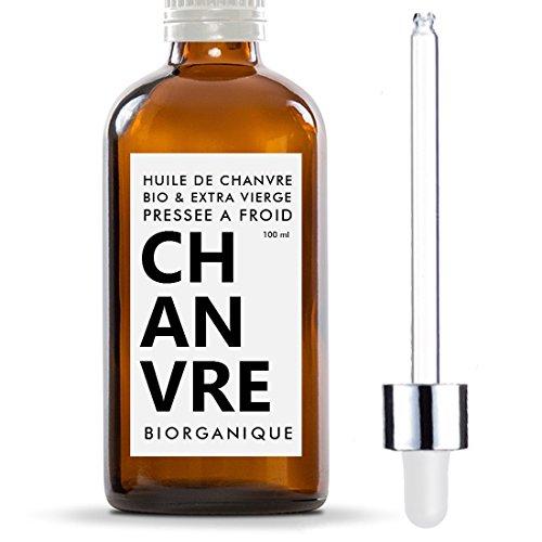 Hanföl 100% Bio, pur und natürlich–100ml–Pflege für Haare, Körper, Haut, Anti-Aging, Gesicht