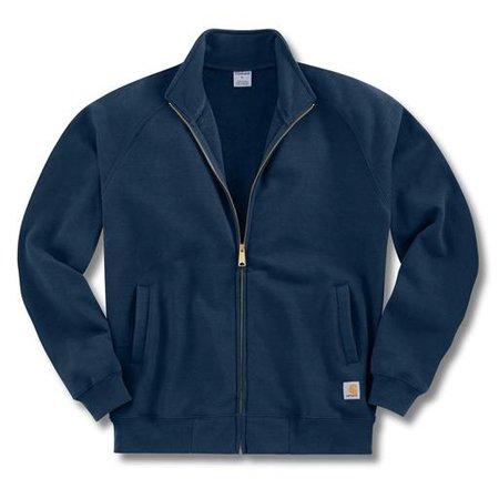 Carhartt K350 Mens Midweight Zip Front Hooded Sweatshirt New Navy - S