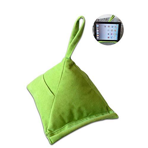 PAWACA Paawaca Pyramidenförmiges Tablett-Kissen mit 2 Taschen zum Aufbewahren von Stift oder Handy,...