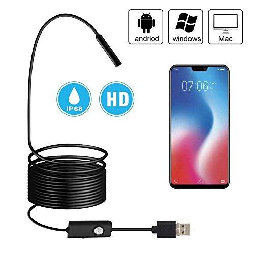 Endoskopkamera Android 3 in 1 USB/Micro USB/Type-C Endoskop USB 2.0 Megapixel HD Inspektionskamera Semi-Rigid Cable Kompatibel mit Android Phone Tablet Windows-1M ...