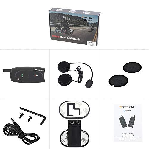 ETbotu 500m/1200m Bluetooth Motorrad Helm Intercom Walkie Talkie für Skifahren snowobile Radfahren Helm Headset