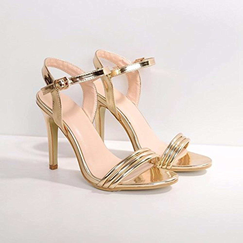 ZHZNVX Scarpe donna pu pu pu cadere a molla della pompa base Comfort sandali Stiletto Heel per Casual oro,l'oro,US8 ...   Di Qualità Dei Prodotti  420632