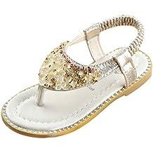 19bbd15a8fc Soupliebe Sandalias Romanas Bebé Niña Verano Zapatos Planos Zapatillas de  niñas Princesa Sandalias de Playa Crystal