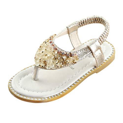 Mymyguoe Zapatos Princesa Banda elástica Diamantes