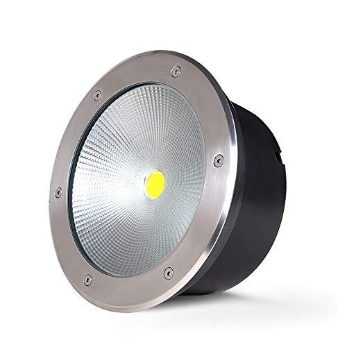 10W ad alta luminosità LED sotterraneo luce in acciaio inox con scale sotterranee di vetro scale LED Lampade per parco quadrato IP65 nominale impermeabile (Color : White light)