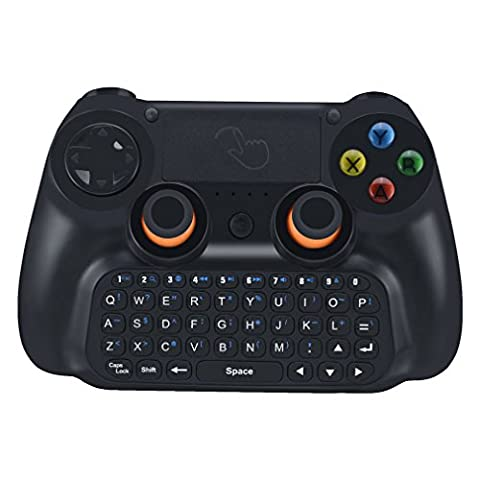Game Controller, LESHP 3 in 1 Multifunktionale Wireless Bluetooth V3.0 Gamepad Controller mit Tastatur und Touchpad 360 Grad Flip für Android