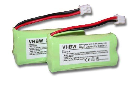 Vhbw 2X Baterías NI-MH 700mAh 2.4V Siemens Gigaset