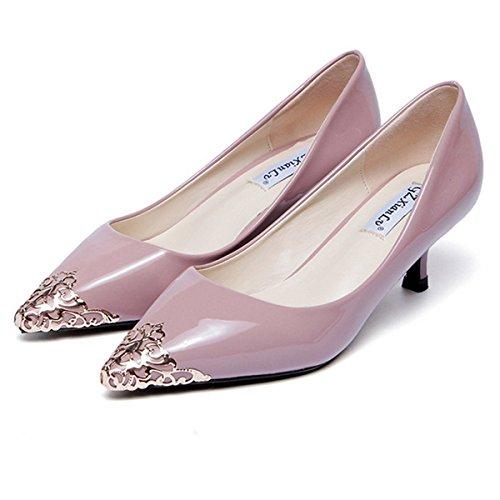 LOBTY Damen Geschlossene Pumps High Heels Pumps Sandalen damen mit absatz  Abendschuhe Strap Schuhe Weiß Schwarz