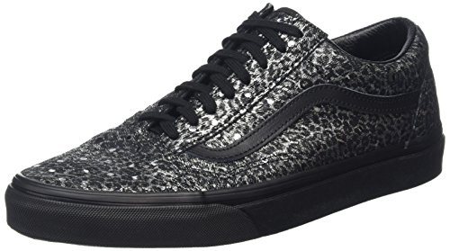 Vans Unisex-Erwachsene Old Skool Reissue Sneakers Schwarz (Metallic Leopard black/black)