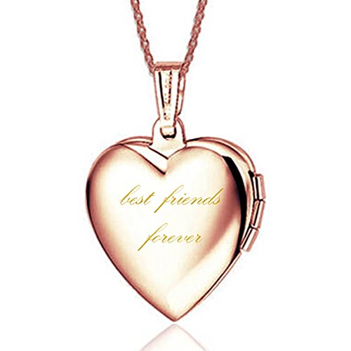 """""""Best Friends Forever"""" Titan Rose Vergoldet Medaillon"""