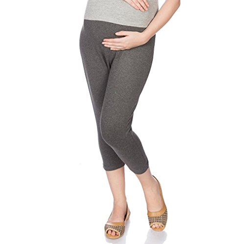 Goldstroms Women's Maternity Capri (Charcoal Grey, XL)