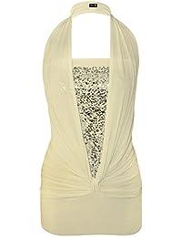 Mix lot nouveau femmes magnifique halter neck top paillettes robe party / club wear avant le noeud conception Taille 36-44