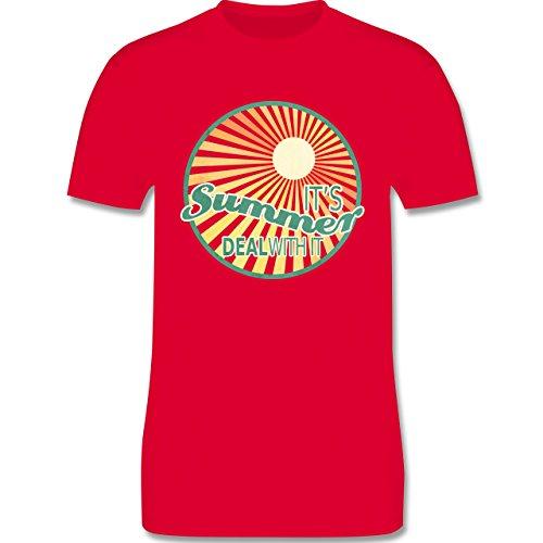 Statement Shirts - It's summer deal with it - Herren Premium T-Shirt Rot