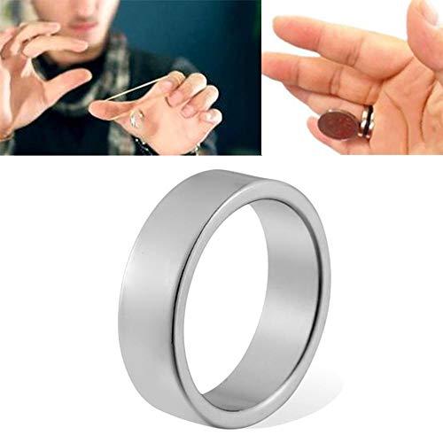 Tawcal PK-Ring Zaubern, Zaubertrick Magnetring Requisiten Schwimmend Ring Aufhängungsring Bühne Mentalismus Magisches Spielzeug Magier Spielzeug