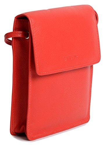 Borsello da viaggio multiuso SADDLER con sezione rimovibile per carte di credito Rosso