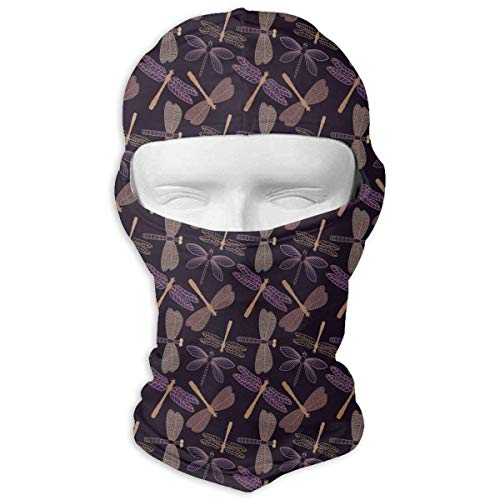(Balaclava Full Face Mask Vibrant Insect Dragonfly Windproof UV Protection Neck Hood Ski Mask for Motorcycle Cycling Outdoor Sports)