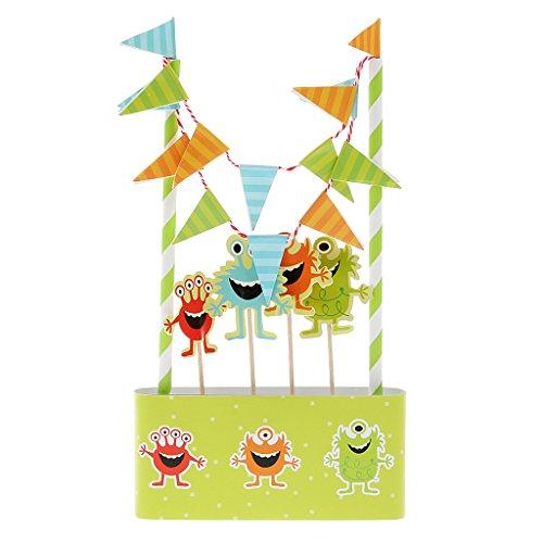 Hochzeit Geburtstagsparty Kuchendeckel 14 Banner Flagge Parteidekor # Kuchen Ammer - Little Monster