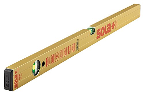 SOLA AZM - NIVEL PERFIL RECTANGULAR MAGNETICO ALUMINIO AZM 600MM ORO