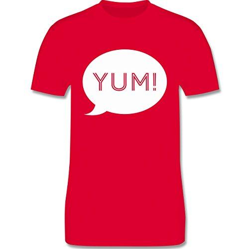 Küche - Yum Sprechblase - Herren Premium T-Shirt Rot