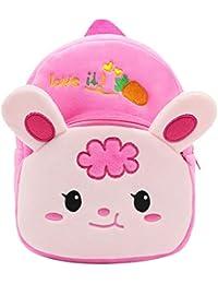 Preisvergleich für DEMU Kleinkind Baby 3D Plüsch Schulrucksack Kindergartentasche Niedlich Rucksack Schultasche Mini Backpack