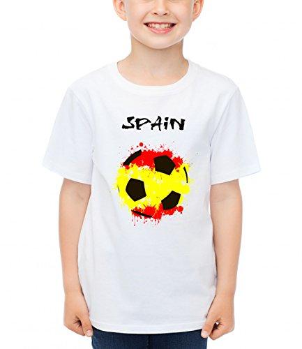 billion-group-spain-flag-football-sport-illustration-boys-classic-crew-neck-t-shirt