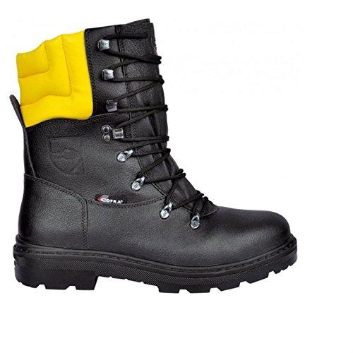 Preisvergleich Produktbild Cofra Schnittschutz-Stiefel Woodsman BIS Forstarbeiter Arbeitsstiefel mit Sägeschutz 45, schwarz, 25580-000
