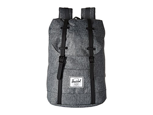 Herschel Supply Co. Retreat Zaino, Raven Crosshatch / gomma nera