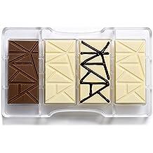Decora tableta de chocolate del molde, de policarbonato, transparente, 200 x 120 x 22 mm