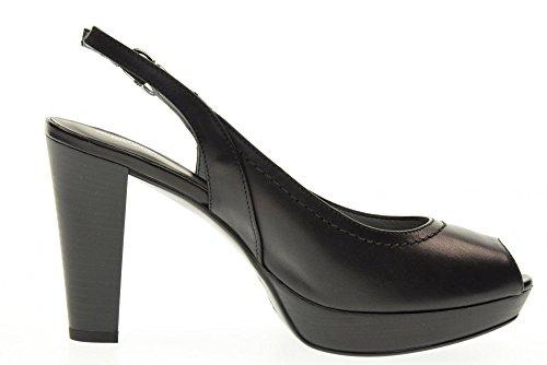 NERO GIARDINI dcollet Schuhe geöffnet P717570D / 100 Black